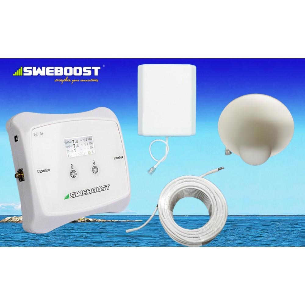 SWEBOOST 50000 serie (up till 1000m2) 70 dB 20dBm output (uteffekt) 3G alt 2G GSM