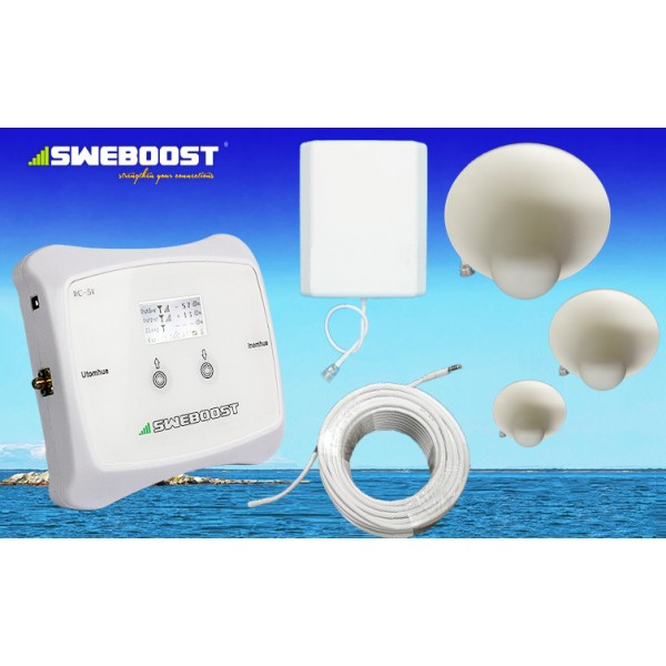 Skräddarsytt komplett 3G eller GSM PAKET! (500-700m2) 3 st Takantenner! För samtalsförstärkning & mobilsurf för operatörerna Telia Tele2 Telenor & Tre(3) (7196:- exkl)