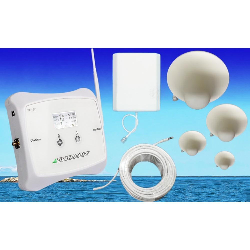 Skräddarsytt komplett PAKET (800-1000m2) välj 3G eller GSM 4 st Takantenner! Telia Tele2 Telenor Tre (3). (7996:- exkl)