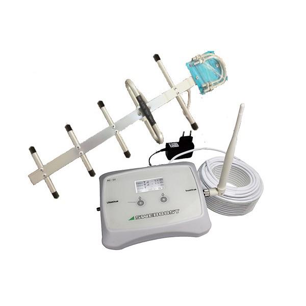 Vårt POPULÄRASTE 2G GSM Paket! (300m2) Operatörsgodkänd Repeater (samtal) för Telia, TELE2 eller Telenor (exkl moms 4396:-)