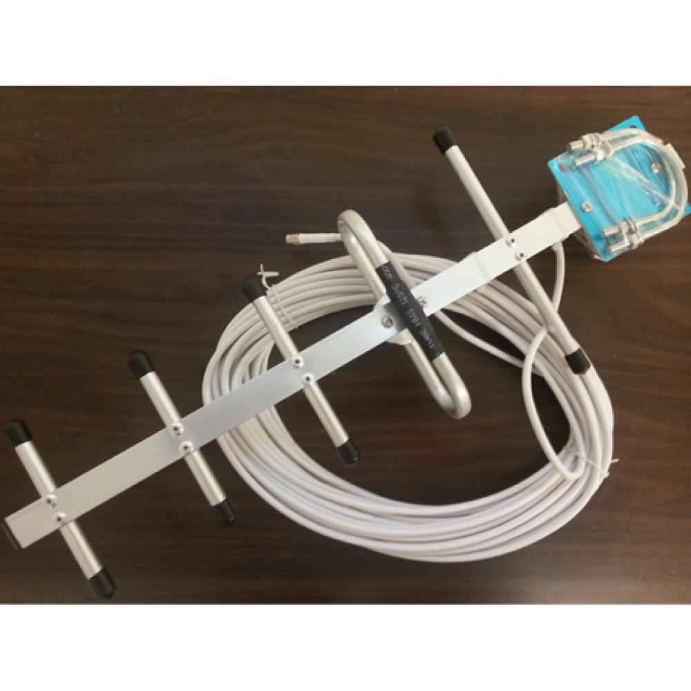 Yagiantenn 2G GSM 7 dBi förstärkning (Riktad)  Inkl. 20 meter koaxialkabel (-0,5 dB/met) 50 ohm