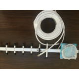 3G Rikt-Yagiantenn 9 dBi förstärkning för 3G mobilsignal inkl. 20 meter koaxialkabel 50 ohm